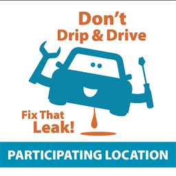 Photo of Don't Drip and Drive Color Window Cling for Partners