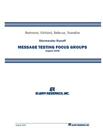 Photo of Stormwater Runoff Message Testing Focus Groups