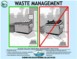 Photo of Puyallup Waste Management BMPs Handout
