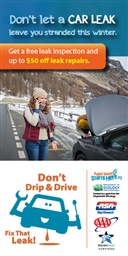 Photo of Don't Drip & Drive: Breakdown Ad Poster