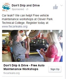 Photo of Don't Drip & Drive: Facebook Ad Clover Park
