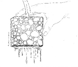 Photo of Stormwater Messaging Toolkit:  Image – Porous pavement II (hand)_Line drawing